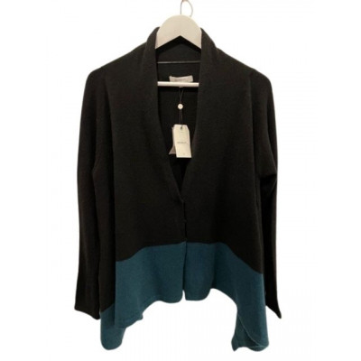 Sandwich Clothing Black Jade Knitted Cardigan in a flared shape available on colmershill.com