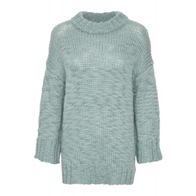 Soaked in Luxury Chunky Knit Sunflower Jumper Blue Surf available on colmershill.com