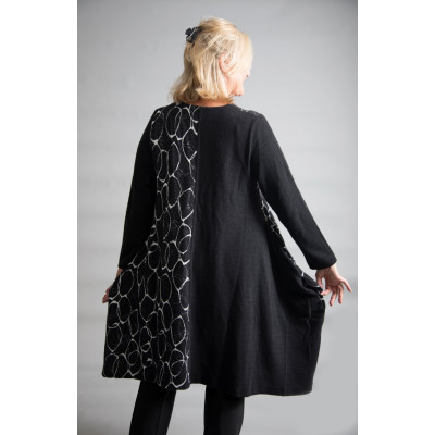 Ralston Solo Zip Up Cover Up Black & White available on colmershill.com