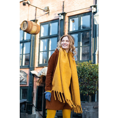 Powder Carolyn Scarf in Mustard