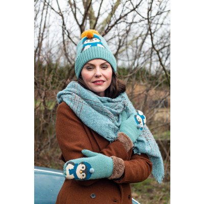 POWDER PENGUIN WRIST WARMERS ICE