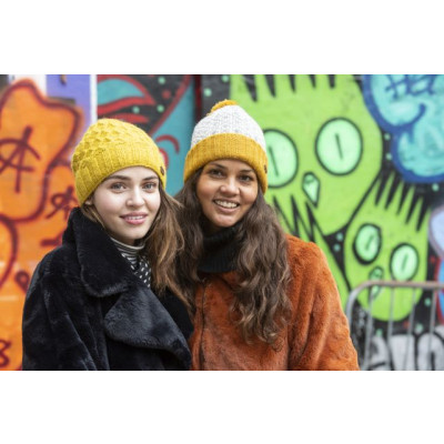 Kusan Bobble Hat Yellow