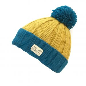 Kusan Bobble Hat Blue/Yellow