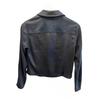 Rino & Pelle Pleather Biker Jacket in Deep Lagoon (dark teal) colour available on colmershill.com