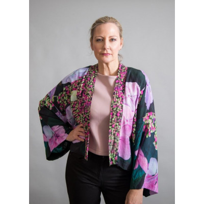 A lightweight floral kimono from new wearable art clothing label, From My Mother's Garden. Available on colmershill.com