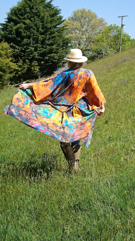 From My Mother's Garden Relaxed Long Robe/Gown From new wearable art label, From My Mothers Garden. Long Robe in an exclusive almost Monet-esque print called Beech Tree Reflections available on colmershill.com