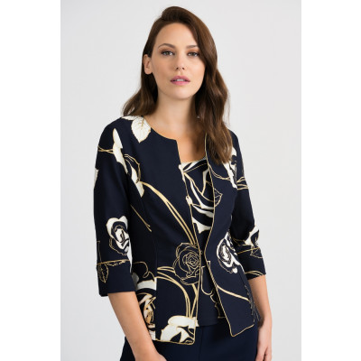 Joseph Ribkoff Twinset Jacket and Top with floral print 201270 available on colmershill.com