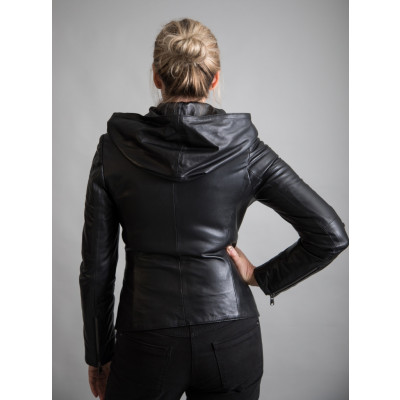 Black leather jacket from new clothing label From My Mother's Garden designed by Elif Kose and available on colmershill.com