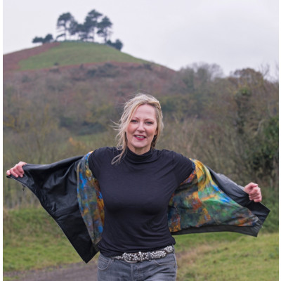 Leather jacket from new clothing label From My Mother's Garden designed by Elif Kose and available on colmershill.com