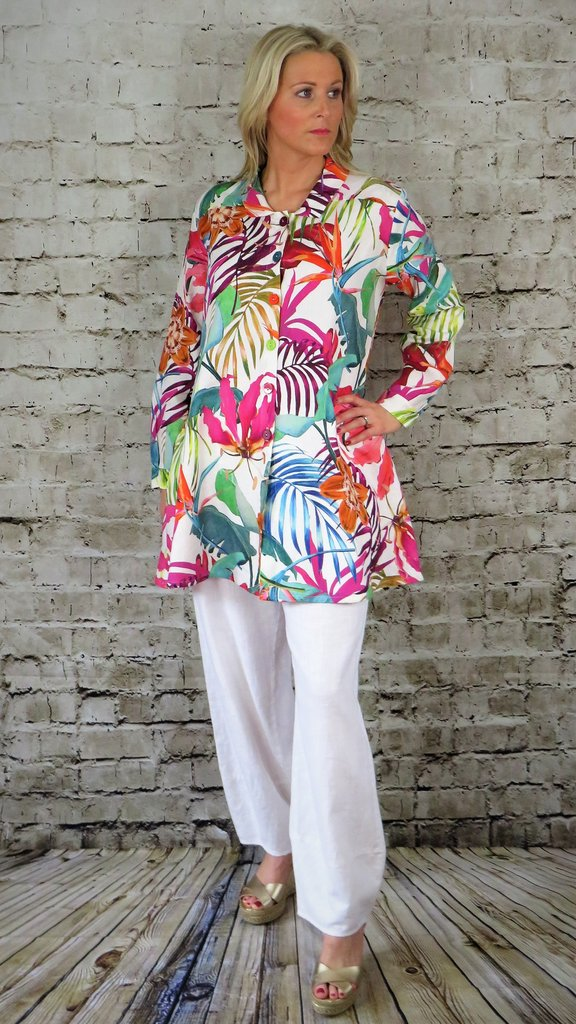 Out of Xile Shirt Jacket Exotic Floral Print 19SS20 available on colmershill.com