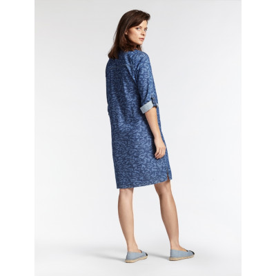 Sandwich Clothing denim shift dress with animal print available at Colmers Hill Fashion Boutique in West Dorset