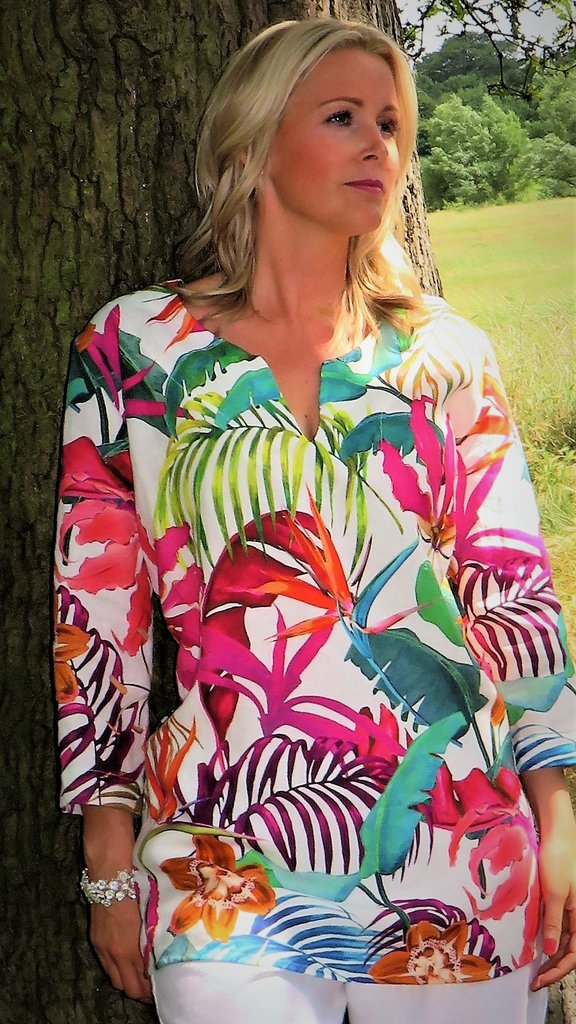 Out of Xile Kaftan Tunic Exotic Floral Print 23SS20 available on colmershill.com