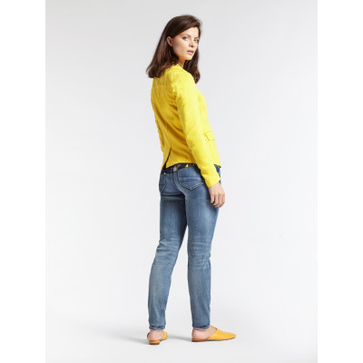 Sandwich Linen Blazer Mimosa Yellow available on colmershill.com