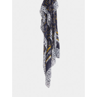 Sandwich Clothing Navy Animal Print Scarf available on colmershill.com