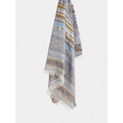 Sandwich Pale Blue Striped Scarf available on colmershill.com