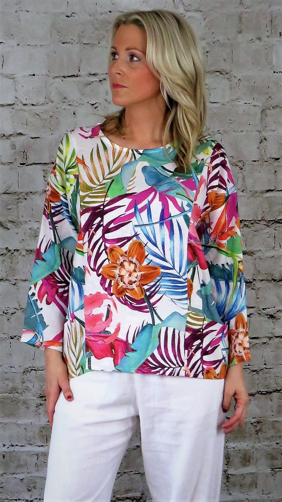 Out of Xile Button Back Top Exotic Print 28SS20 available on colmershill.com
