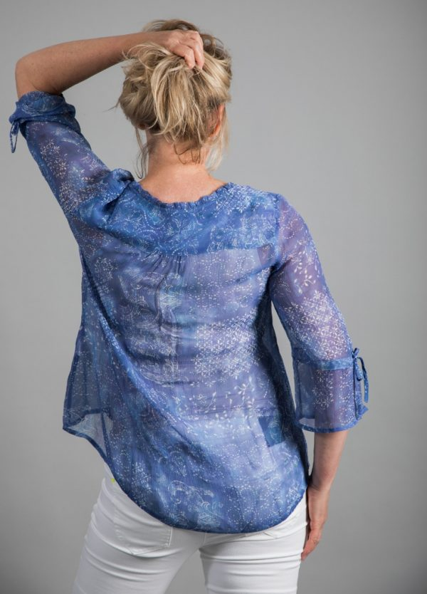 Simclan Sheer Printed Shirt Blouse available on colmershill.com