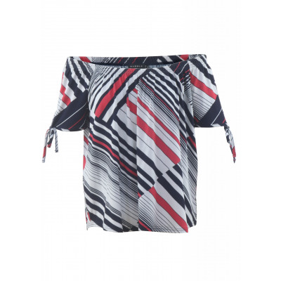 Marble Diagonal Stripe Off-the-Shoulder Top 5745_109 available on colmershill.com