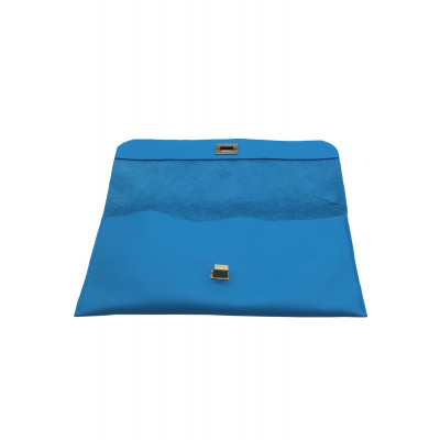 The Little Clutch Company Robyn Clutch bag is made of a beautiful blue leather and available on colmershill.com