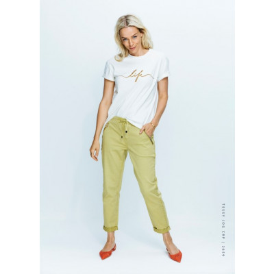 Red Button Tessy Jogger Cropped Trousers Yellow available on colmershill.com