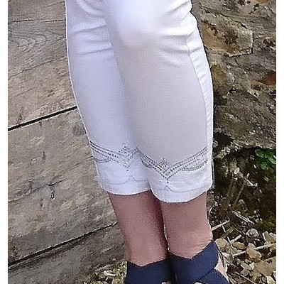 Tinta Vilaseca White Jeans with Diamante Embellishment available on colmershill.com