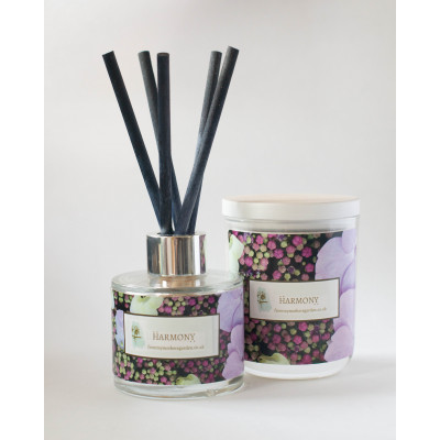 From My Mother's Garden Harmony Candle and Diffuser have a Forget Me Not and Rose scent and is hand-made in Devon. Available to buy on colmershill.com
