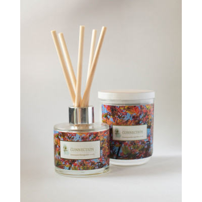 From My Mother's Garden Connection Candle and Diffuser has a Orange and Cinnamon scent and is handmade in Devon Available to buy on colmershill.com