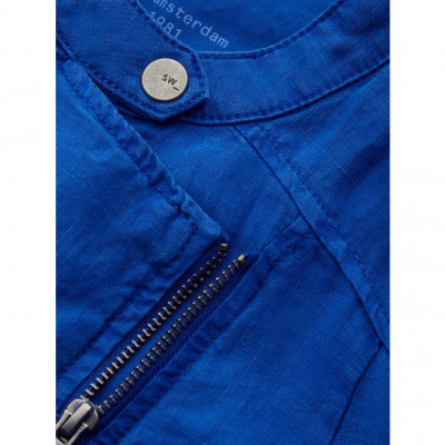Sandwich Linen Jacket Cobalt Blue 25001545 available on colmershill.com