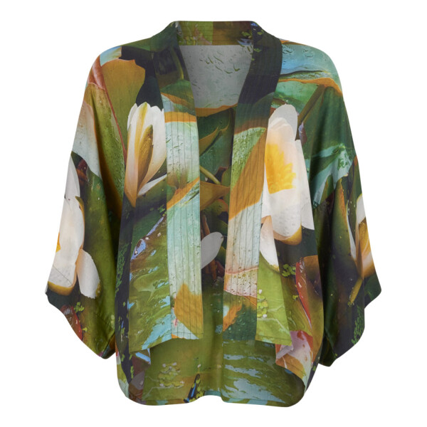 From My Mother's Garden Lightweight Kimono Waterlily available on colmershill.com