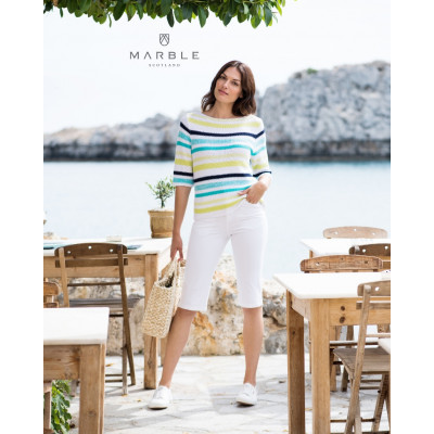 Marble Striped Jumper Lime 5687 available from colmershill.com