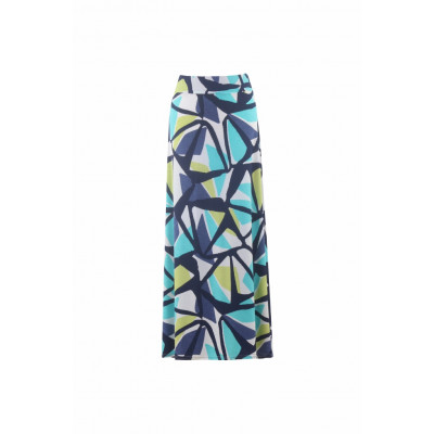 Marble Jersey Maxi Skirt Printed Lime 5772_163 available on colmershill.com
