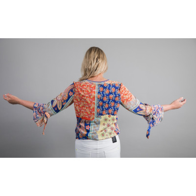 Tinta Dominik Top with a multicolour paisley print available from colmershill.com
