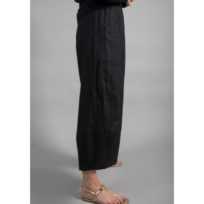 Ralston Zeba Linen Trousers Black available on colmershill.com