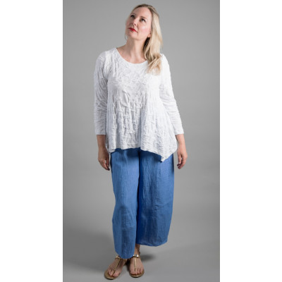 Ralston Tampa Top White & Zeba Trousers Blue available on colmershill.com