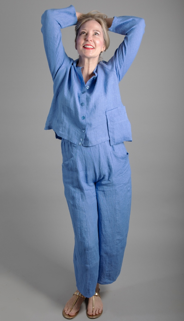 Ralston Anandi Linen Jacket Blue available on colmershill.com