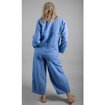 Ralston Zeba Linen Trousers Blue available on colmershill.com