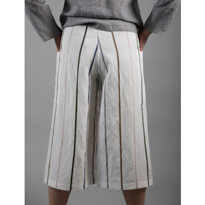 Ralston Bobby Cropped Trousers White Stripe are funky and chic available on colmershill.com