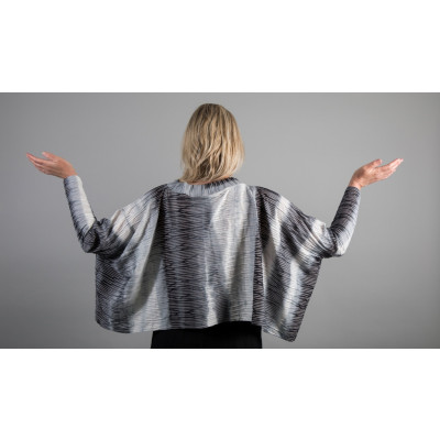 Ralston Ale Striped Top Grey is textured and a great piece for layering available on colmershill.com