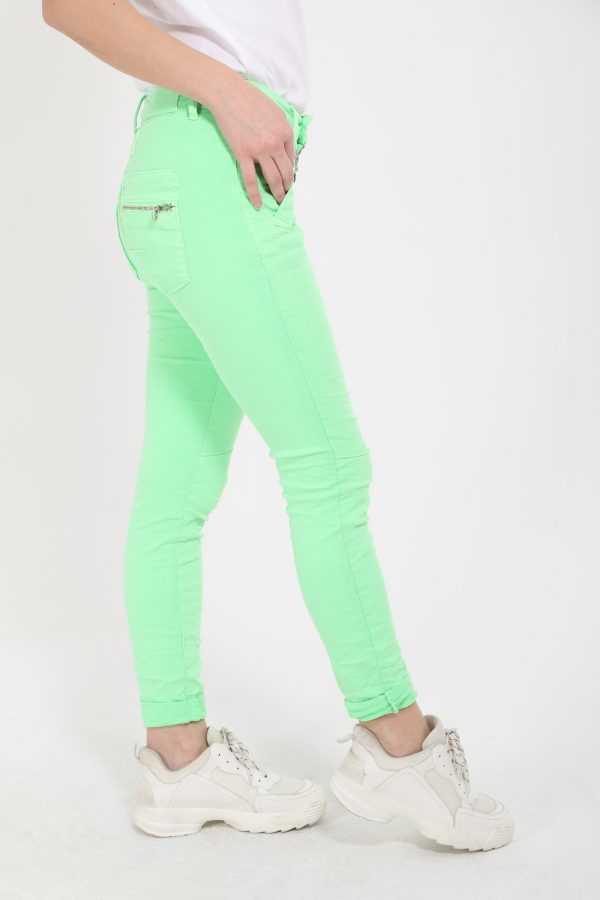 Melly & Co Neon Green Jeans available on colmershill.com