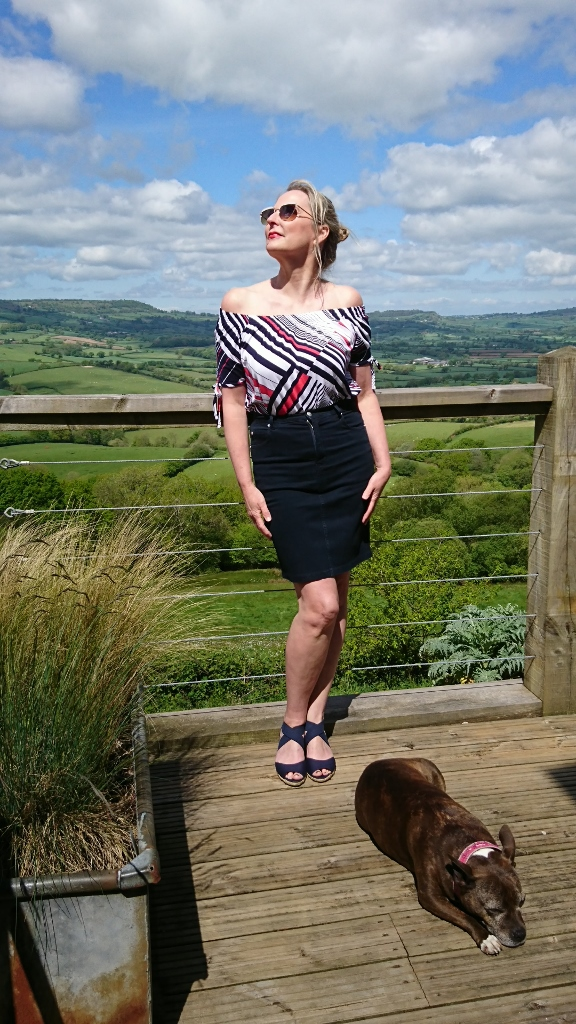 Marble Striped Top (£45) and Jean Skirt (£75) available on colmershill.com