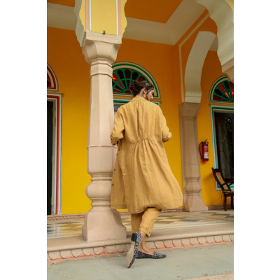 NoLogo Chic Ultramarine Linen Coat available on colmershill.com