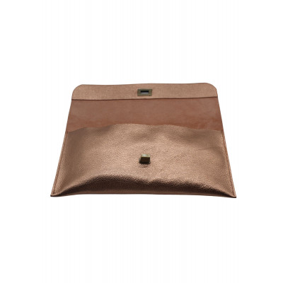The Little Clutch Company Robyn Clutch bag is made of a beautiful rose gold leather and available on colmershill.com