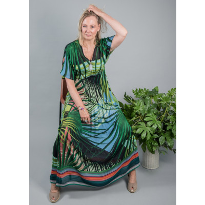 Bl^nk Sofiyana Exotic Palm Maxi Dress available on colmershill.com