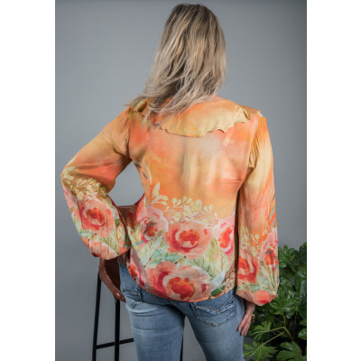 Bl^nk Catalina Blouse Orange available on colmershill.com