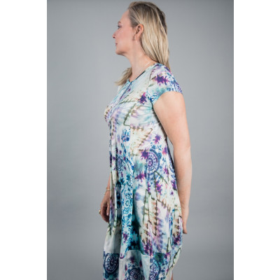 Simclan Knee Length Tie-Dye Dress Blue available on colmershill.com