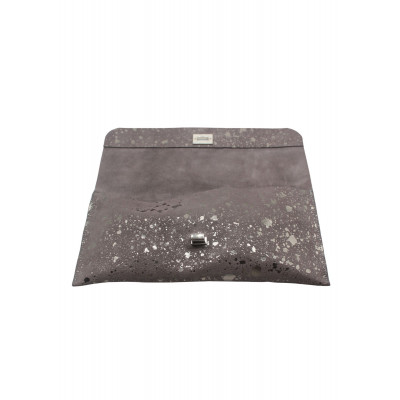 The Little Clutch Company Robyn Clutch bag is made of a beautiful Moonstone suede and available on colmershill.com