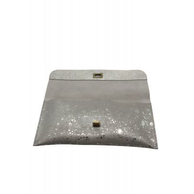The Little Clutch Company Robyn Clutch bag is made of a beautiful platinum suede and available on colmershill.com