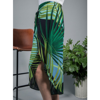 Bl^nk Jane Culotte Pants Green with palm print available on colmershill.com