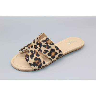 Reqins Leopard Print Sliders available on colmershill.com