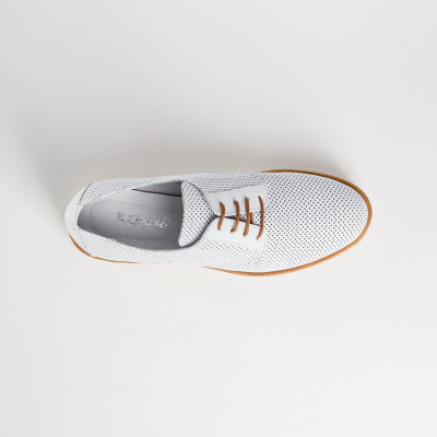 Reqins Amos Oxford Shoes White available on colmershill.com